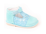 SNOOPY MICOCO:CUIR/TURQUOISE