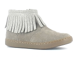 CHECK CANVAS PLAY FRINGE:CUIR/TAUPE