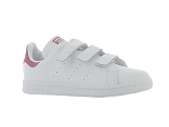 BASKET HEART STAN SMITH ENF:CUIR/BLANC ROSE